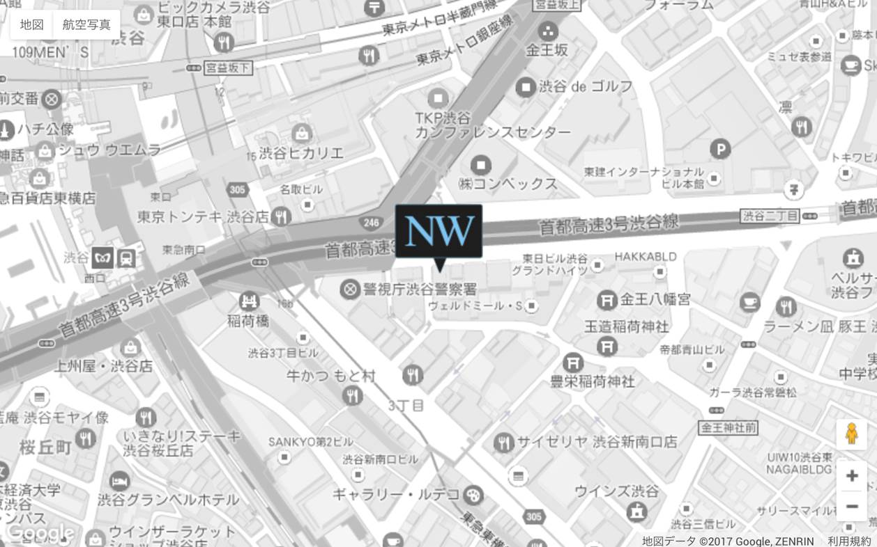 NW渋谷イースト地図